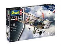 Slepovací model Revell 1:48 100 Years RAF: British S.E. 5a