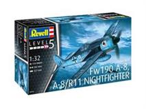 Revell slepovací model Focke Wulf Fw190A-8, A-8/R11 Nightfighter 1:32