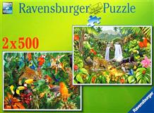Puzzle Ravensburger Džungle 2x500 dílků