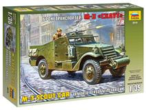 Slepovací model Zvezda 1:35  M-3 SCOUT CAR  Armored Personnel Carrier
