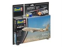 Slepovací set Revell 1:144 Airbus A320 Etihad Airways
