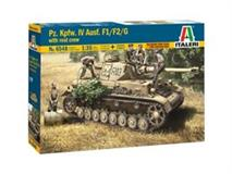 Slepovací model Italeri 1:35 Pz.Kpfw. IV Ausf.F1/F2/G EARLY WITH REST CREW
