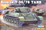 Hobby Boss slepovací model Russian tank T34/76 1942 1:48