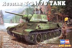 Hobby Boss slepovací model Russian T34/76 1943 No.112 1:48