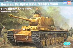 Hobby Boss slepovací model German Pz.Kpfw KV-1 756 (r) Tank 1:48