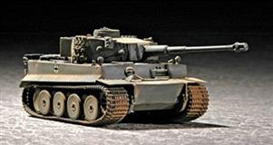 Slepovací model Trumpeter 1:72  Tiger I  Early Production