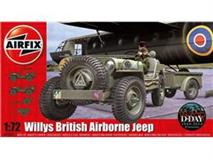 Slepovací model Airfix 1:72 Willys Jeep, Trailer & 6PDR Gun *