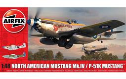 AIRFIX slepovací model NORTH AMERICAN MUSTANG Mk.IV/ P-51K MUSTANG 1:48