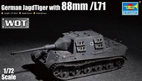 Trumpeter slepovací model German JagdTiger with 88mm / L71 1:72