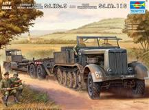 Trumpeter slepovací model Sd. Kfz. 9and Tank Transporter Sd. Ah. 116 1:72 German 18 Ton