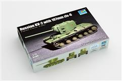 Trumpeter slepovací model Russian KV-2 with 107mm zis-6 1:72