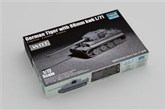 Slepovací model Trumpeter 1:72 German Tiger with 88mm kwk L/71